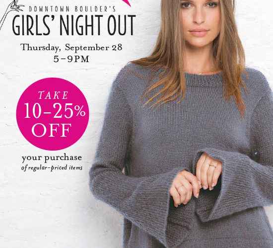Girl's Night Out Sept 28 5-8pm